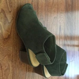 Faux Suede Sandals, Size 6